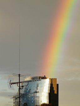 Rainbow, Farbenspiel, Phenomenon, Rain, Sunshine