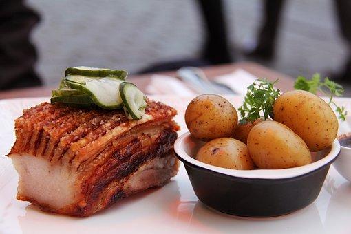Food, Delicious, Roast Pork Belly, Pork Belly, Pork