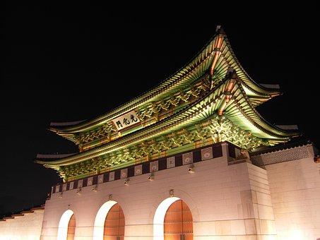 Seoul, Forbidden City, Gyeongbok Palace, Gwanghwamun