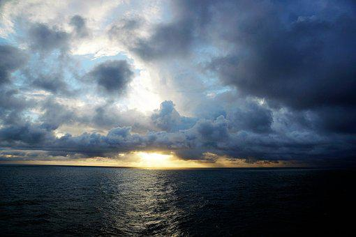 Atlantic, Ocean, Water, Sky, Nature, Weather