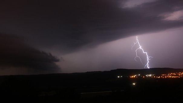 Thunderstorm, Storm, Clouds, Sky, Rain, Forward