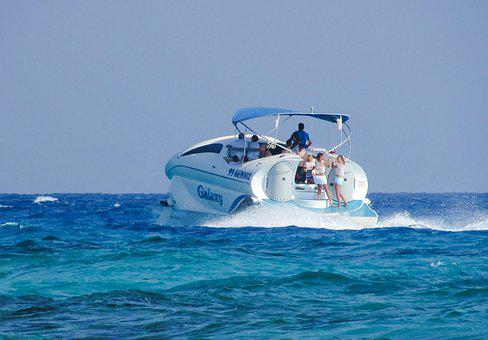 Speed Boat, Cruise Boat, Sea, Vacation, Summer, Tourism