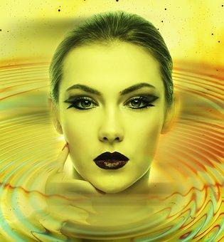 Woman, Face, Head, Portrait, Eyes, Mouth, Lips, Female