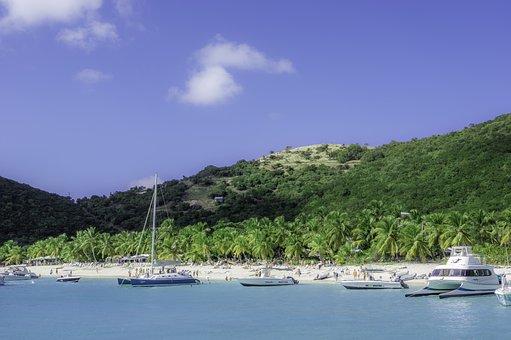 Sail, Yacht, Beach, Blue, Paradise, Land, Earth, Wild