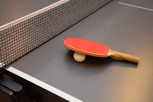 Table Tenis, Ping Pong, Table, Bat, Sports