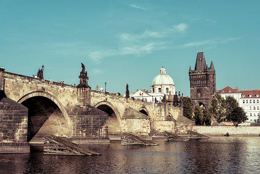 Bridge, Charles Bridge, Charles, Cityscape, Czech