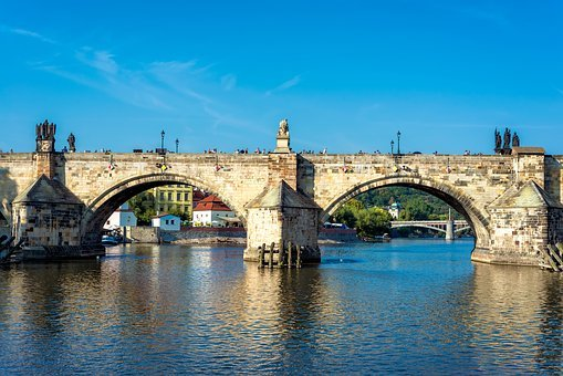 Cityscape, Prague, City, Architecture, Charles Bridge