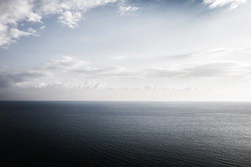 Sea, Seascape, Copyspace, Calm, Cloud, Horizon, Outdoor