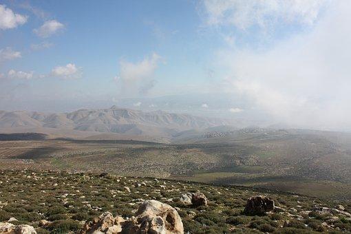 Israel, Samaria, Mountains, Clouds, Landscape, Sky