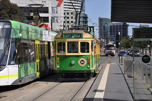 Tram, Rails, Dare, Australia, Transport