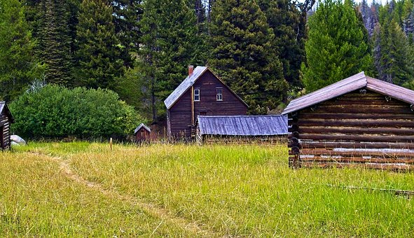 Garnet Ghost Town In Montana, Abandoned, Old, Ghost