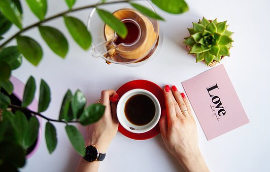 Greens, Coffee, Hands, Cup, Cup In Hands