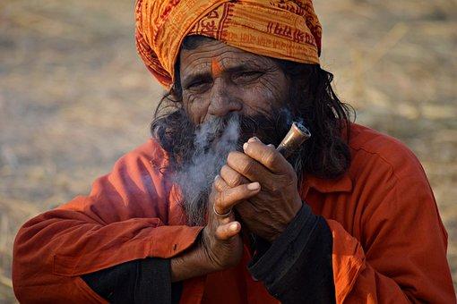 Sadhu, Hermit, India, Guru, Beard, Hair, Culture