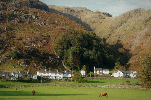 Landscape, Chapel Stile, Pastoral, Langdales, Cumbria