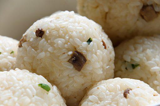 Onigiri, Traditional, Rice Croquettes, A Bowl Of Rice