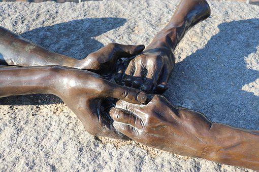 Sculpture, Bronze, Hands, Fingers, Artwork, Hand