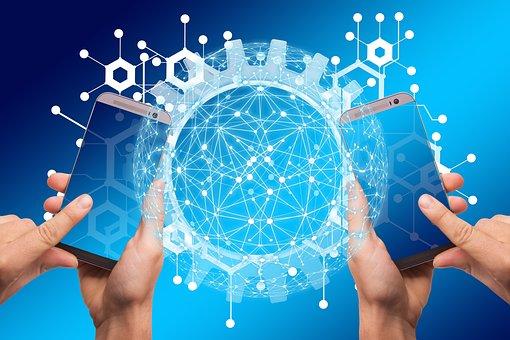 Smartphone, Network, Work, Gear, Gears, Block Chain