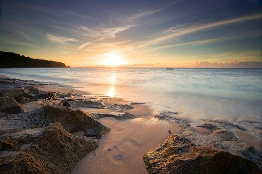 Sunset, Background, Sky, Beautiful, Beach, Summer