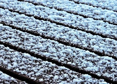 Winter, Snow, Garden Table, Snowflake, White