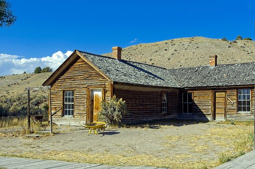 Bannack Abandoned House, Ghost, Town, Montana, Historic