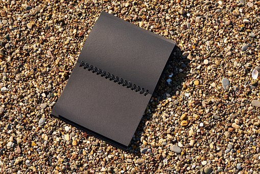 Page, Book, Note, Notebook, Beach, Black, Is Empty