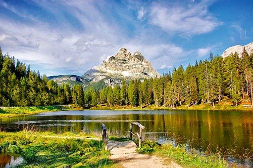 Lake Antorno, Dolomites, Bergsee, Alpine, Mountains