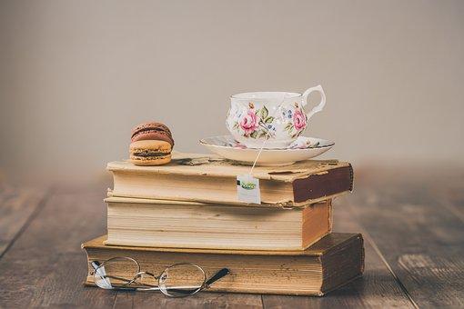 Macarons, Tea, Vintage, Old, Drinking, Breakfast, Retro