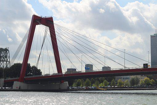 Rotterdam, Netherlands, Architecture, Bridge
