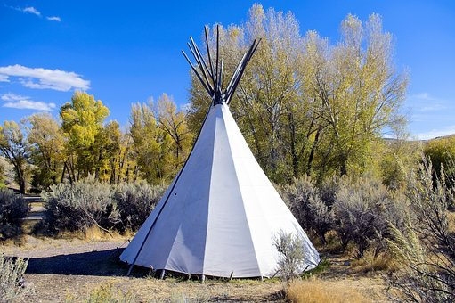 Camping Tipi At Bannack, Campground, Tent, Tipi