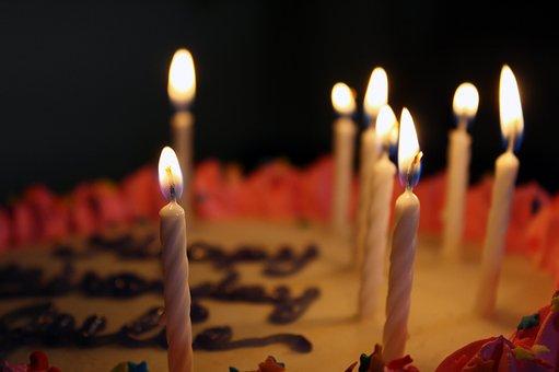Birthday, Cake, Candles, Celebration, Party, Dessert