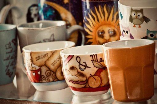 Cups, Espresso Cups, Coffee, Milk, Cappuccino