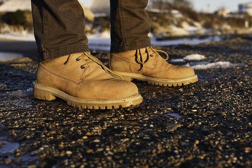 Shoes, Yellow, Fashion, Hiking, Hiking Shoes, Close Up