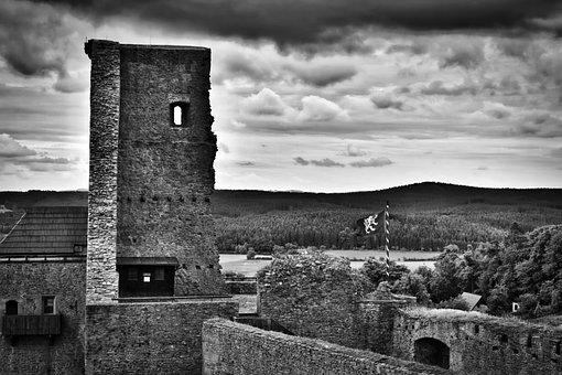 Castle, Castle Lipnice, Lipnice, Heaven, Clouds