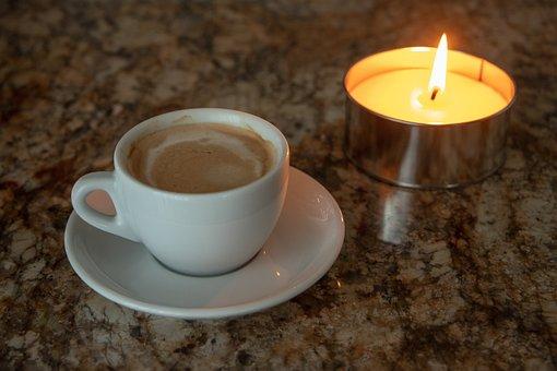 Coffee, Cup, Candle, Coffee Break, Break, Beverages