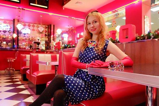 Smile, Polka Dot Dress, Fashion 40s, Fashion 50s, Woman