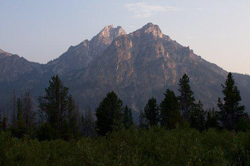 Mountains, Sawtooths, Nature, Forest, Range, Scenic