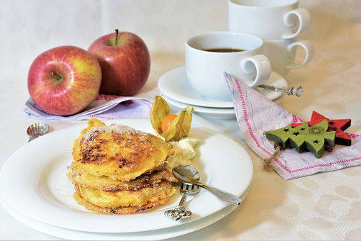 Apple, Apple Fritters, Cake, Coffee, Fritter, Sweet