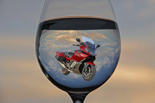 Water Glass, Game, Motorcycle, Bmw, Blue, Red