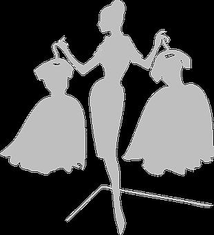 Woman, Dresses, Grey, Silhouette, Choose, Decision
