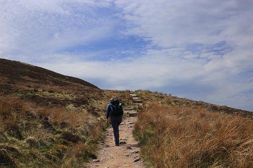 Hill, Hill Walking, Hill Walker, Landscape, Highland