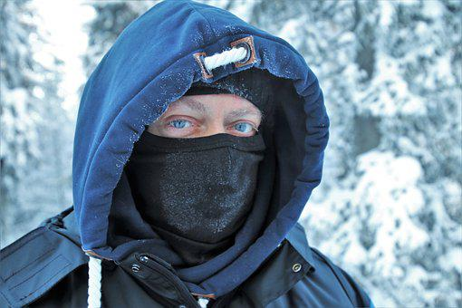 Lapland, Face, It, Hood, Icy, Frozen, Snowy, Winter