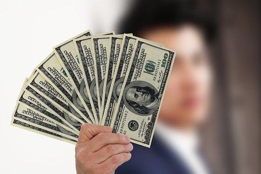 Businessman, Kaufmann, Money, Dollar, Currency, Profit