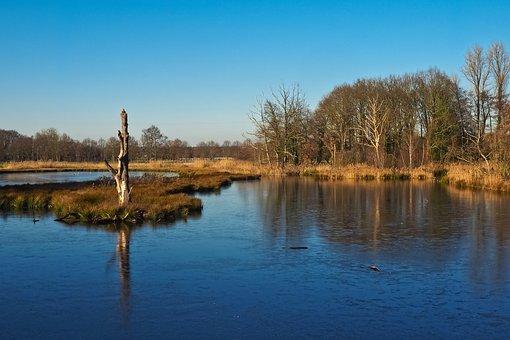 Landscape, Lake, Nature, Water, Rest, Sky, Blue, Mood