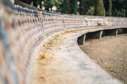 Bench, Park, Mexico, Mexico City, Leaves, Seat