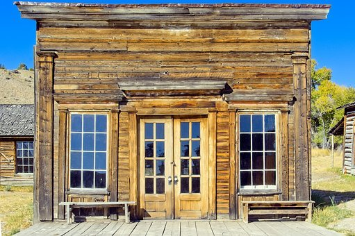 Assay Office In Bannack, Montana, Bannack, Ghost Town