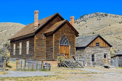 Bannack Methodist Church, Montana, Bannack, Ghost Town