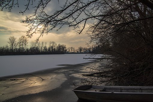 River, Gefrohren, Winter, Ice, Cold, Waters, Nature