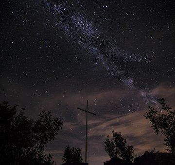 Slovakia, Milky Way, The Galaxy, Night, The Sky