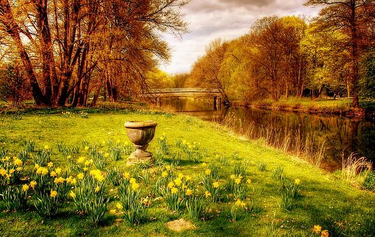 Braunschweig, Park, Spring, Germany, Landscape