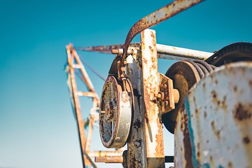 Winch, Vintage, Old, Equipment, Retro, Yachting, Sea